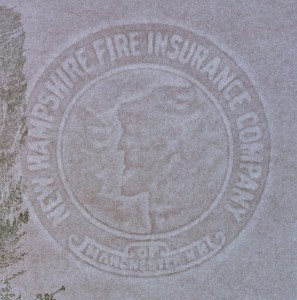 New Hampshire Fire Insurance Company of Manchester N. H. marca al agua