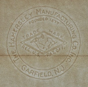 The Hamersley Manufacturing Co. Inc. - Garfield, N.J. - Founded 1877 - Trade Mark - Reg. U.S. Pat. Off. marca al agua