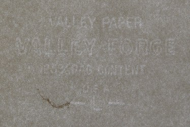Valley Paper - Valley Forge marca al agua