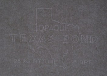 Opaque Texas Bond watermark