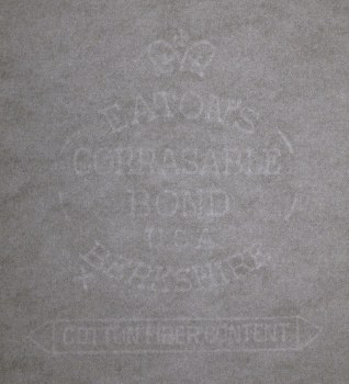 Eaton's Berkshire Corrasable Bond watermark