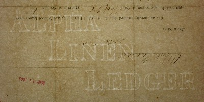 Alpha Linen Ledger watermark