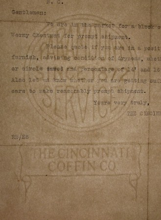 The Cincinnati Coffin Co. - Paramount Service Since 1872 marca al agua