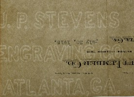 J. P. Stevens Engraving Co. Atlanta, Ga. watermark