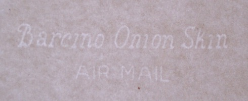 Barcino Onion Skin - Air Mail watermark