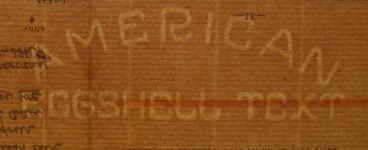 American Eggshell Text watermark