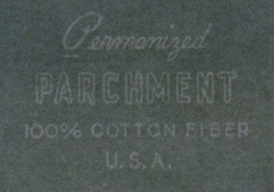 Permanized Parchment watermark